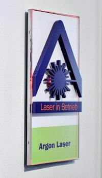 Argon Laser in Betrieb